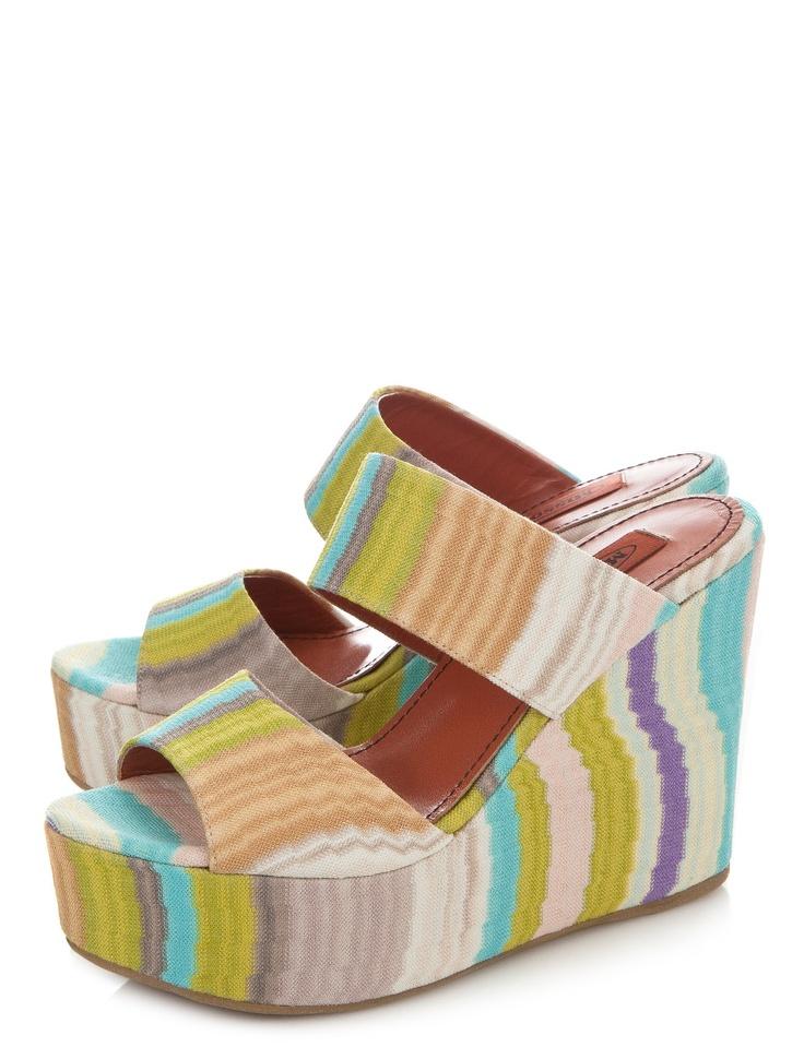 Scoop NYC   Missoni :: Striped Slide Wedge :: Heels - Shoes - SHOES & HANDBAGS