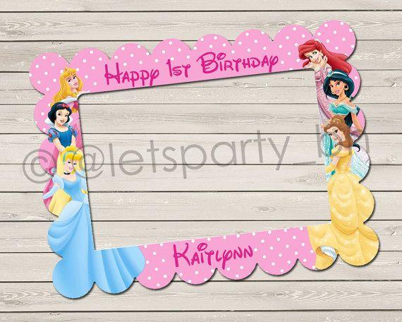 25 best ideas about Princess photo booths – Disney Princess Tea Party Invitations
