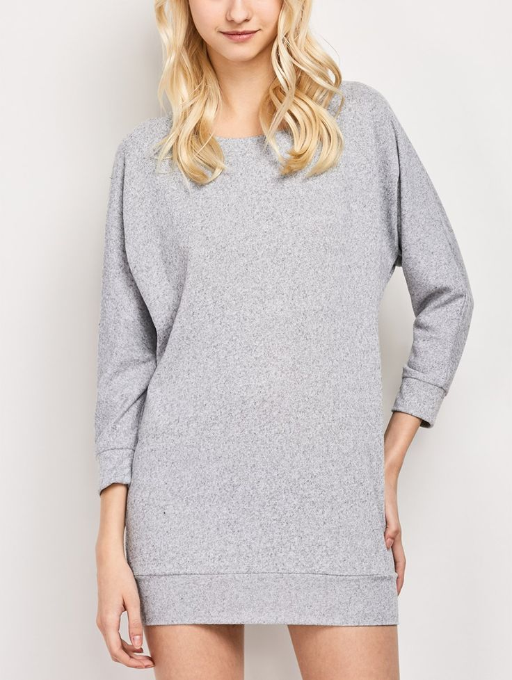 Dolman Sleeve Round Collar Sweatshirt #CLICK! #clothing, #shoes, #jewelry, #women, #men, #hats