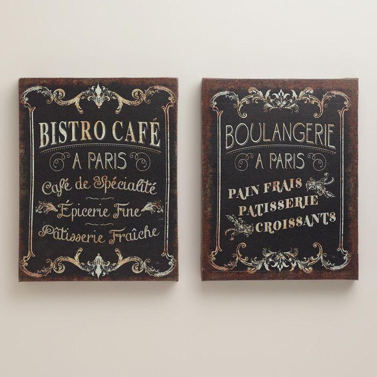 Parisian Signs, Set of 2 | World Market