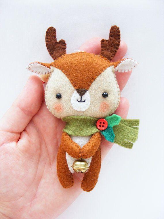 PDF pattern Cute Little Reindeer Felt Christmas door iManuFatti