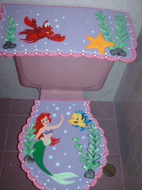 Juego de baño en foami con patrones - Imagui