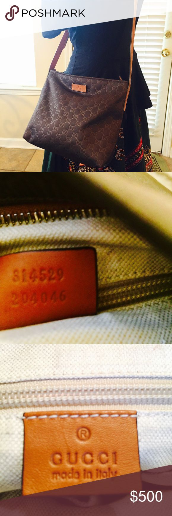 "AUTHENTIC Gucci Messenger Bag 100% Authentic Gucci Messenger Bag ""Excellent"" condition dark Brown Gucci Bags Shoulder Bags"