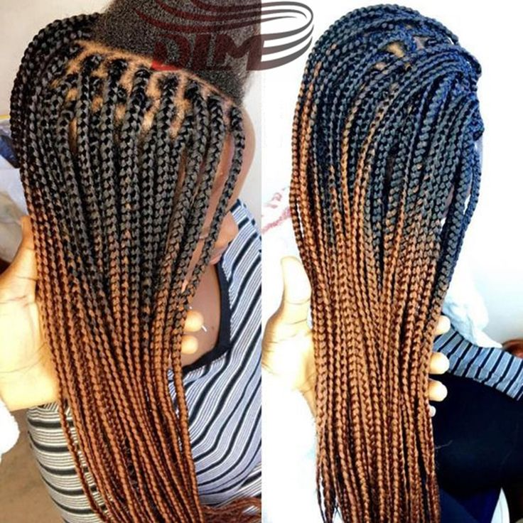 Crochet Box Braids Wig : ... Synthetic Hair Lace Front Wigs Long Box Braid Hair Wig Free Shipping