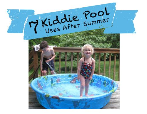 7 Kiddie Pool Uses After Summer. Some fun, frugal activities & ideas on how to make use of that bulky kiddie pool taking up room in your garage!