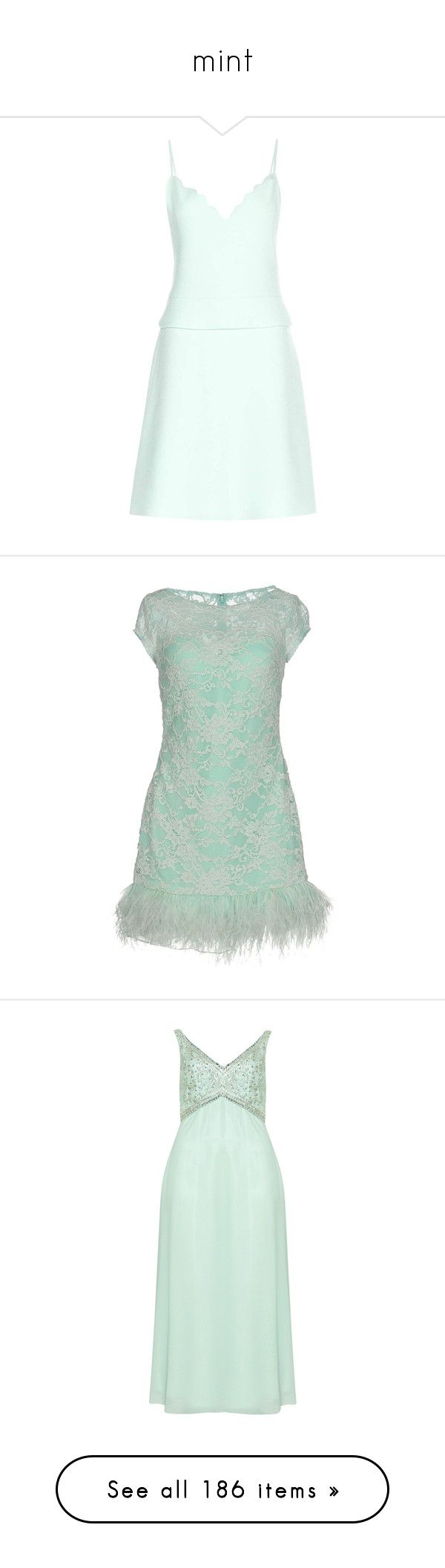 """""""mint"""" by carla316 ❤ liked on Polyvore featuring dresses, green, mini dress, short green dress, short dresses, green mini dress, green dress, turquoise, lace dress and 2 piece lace dress"""