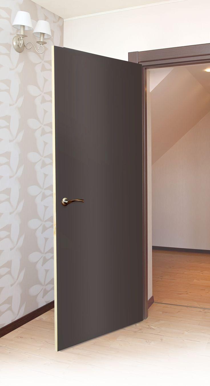 Puerta de MDF color chocolate ideal para recámaras y baños. Medidas: 90x213
