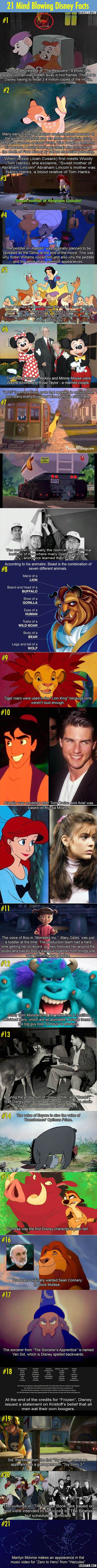 Another 21 Disney movies facts that will blow your mind. <<-- I knew about #1 because I bought my copy the day they recalled it!