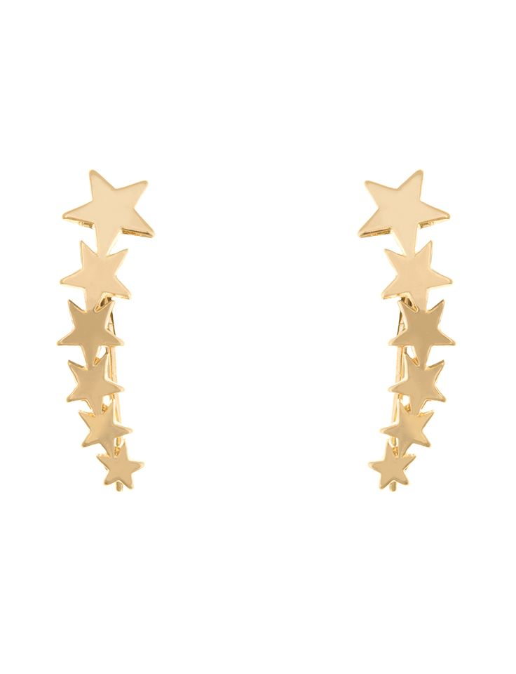 Show your stars and stripes this Fourth with our Star Ear Crawlers | Women's Plus Size Jewelry | ELOQUII