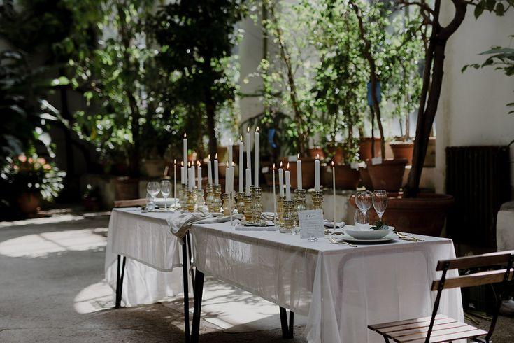 Table setting | Greenhouse Wedding Inspiration in Florence, Italy. Tuscany wedding photographer.