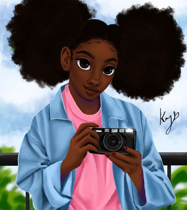 Follow @afroqueen01 To See More Melanin Art