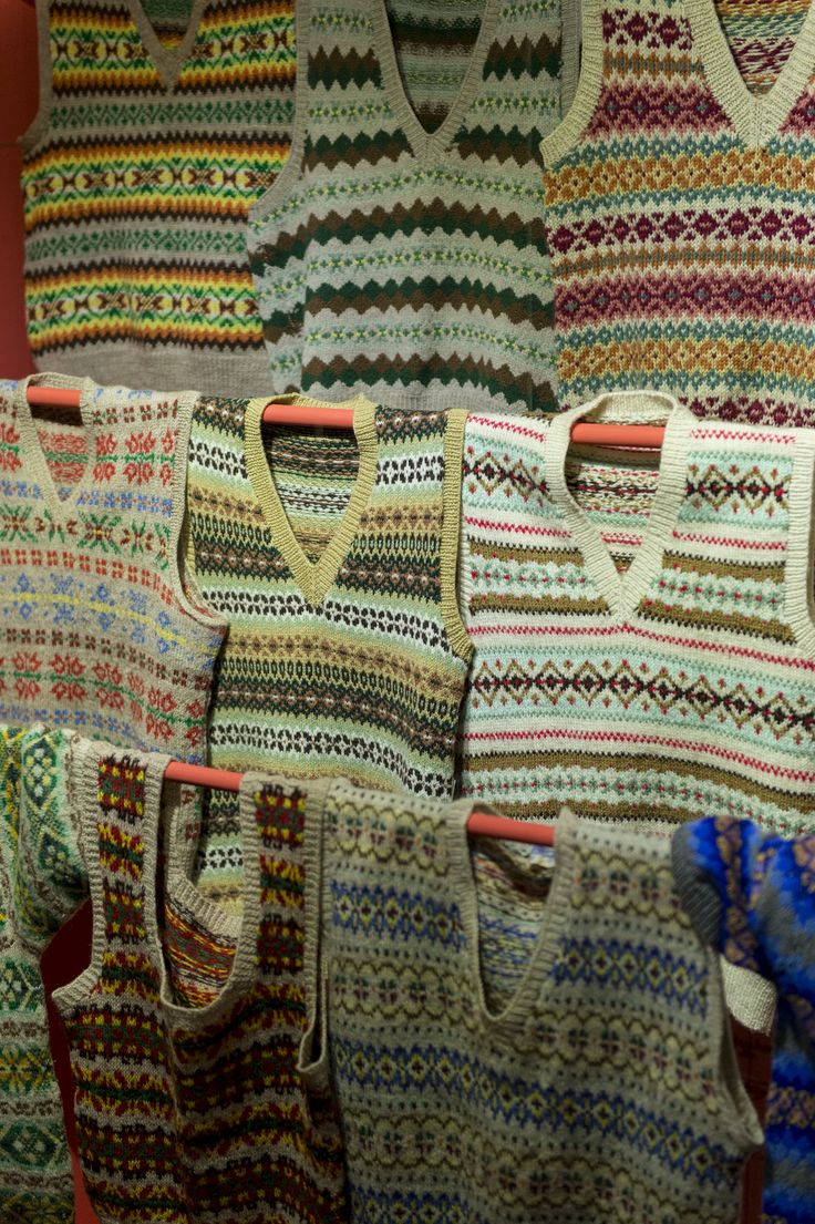Fair Isle sweaters as featured in KNITWEAR Chanel to Westwood Image (c) Fashion and Textile Museum www.ftmlondon.org