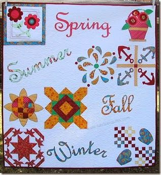 Fabrics N Quilts- Seasonal Quilt from the blocks of Quiltmaker's 100 Blocks- Vol 8