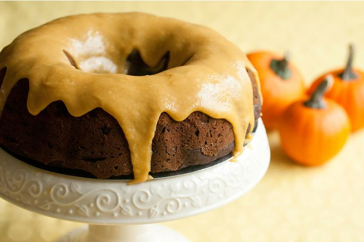 Iced Pumpkin Chocolate Spice Bundt Cake