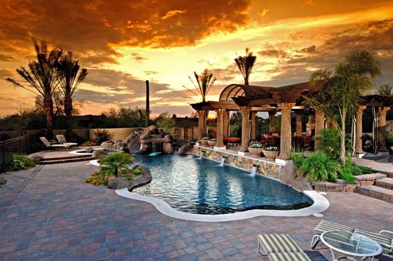Award winning arizona pool designs by california pools for Pool design az