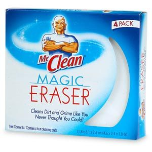 You can make your own magic erasers for cleaning by simply buying some melamine foam. You can buy 30 of them on Amazon for $15. No more paying $4.69 for four!