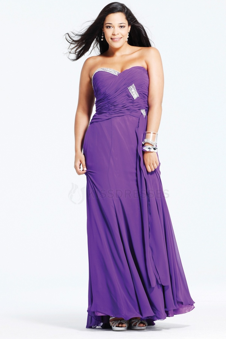Purple prom dresses plus size images dresses design ideas 99 best plus size prom dresses images on pinterest bride dresses stunning chiffon floor length sweetheart ombrellifo Image collections