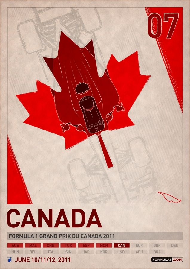 The Canada Formula 1 2011 Poster Series by PJ Tierney