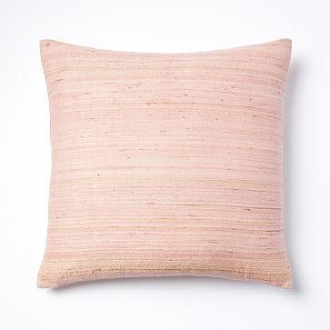 Woven Silk Pillow Cover - Pink Sorbet #westelm