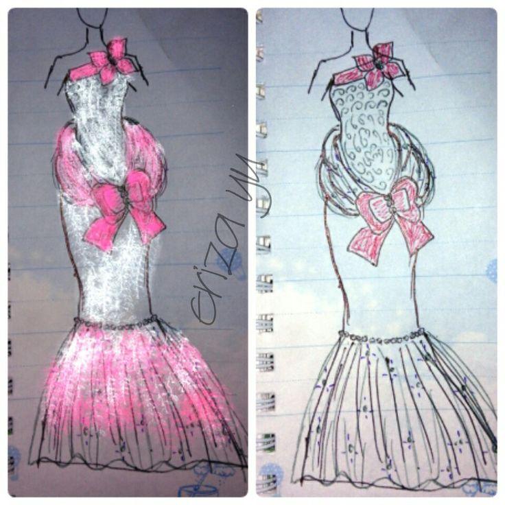 #fashiondesign #design #pencil #draws #mermaidgown