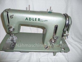 Adlermatic Superba, Flachbett-Zickzacknähmaschine, Hersteller: Kochs Adlernähmaschinen Werke AG, Bielefeld (Bilder: I. Weinert)