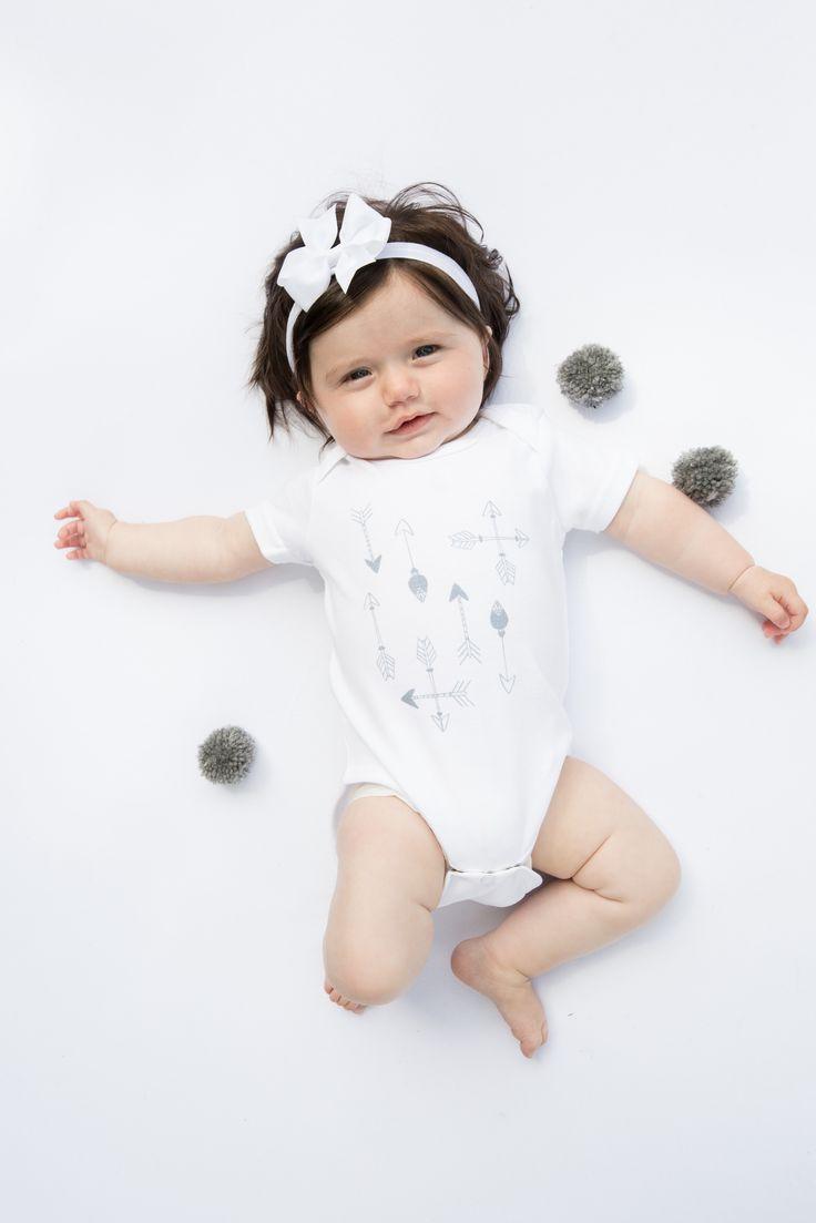 'Adventure Lies Ahead' Organic arrows babygrow http://www.thislittle.boutique/#!shop/ccy