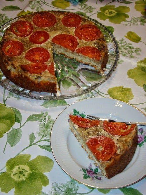 Cristina's world: Tarta aperitiv cu ceapa si ciuperci - dukan style