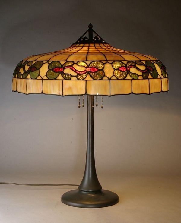 a turn of the century handel lamp
