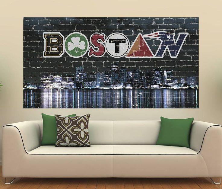 """Awesome Boston Wall Graphic!! Get yours here """" http://www.amazon.com/gp/product/B00QPGM0RO"""