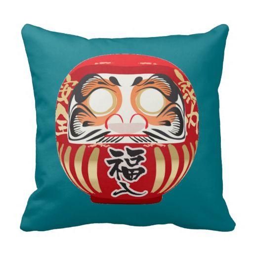 Japanese Daruma Doll Pillow