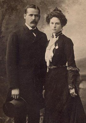 Famous photograph of Henry Longabaugh (the Sundance Kid) and the mysterious Etta Place.  No one knows where she came from or what happened to her after she left Butch Cassidy and Sundance in Argentina in 1905.