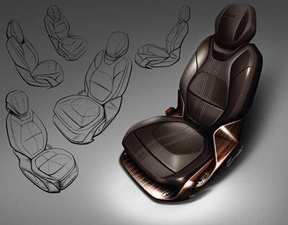 "Automotive Seat - by Cesar Zanardo Check out new work on my @Behance portfolio: ""GMC Seat Proposal"" http://be.net/gallery/51414151/GMC-Seat-Proposal"