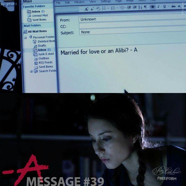 Mensagem # 39 de A. Enviada a Spencer  // Temporada 1, Episódio 13. #PLL