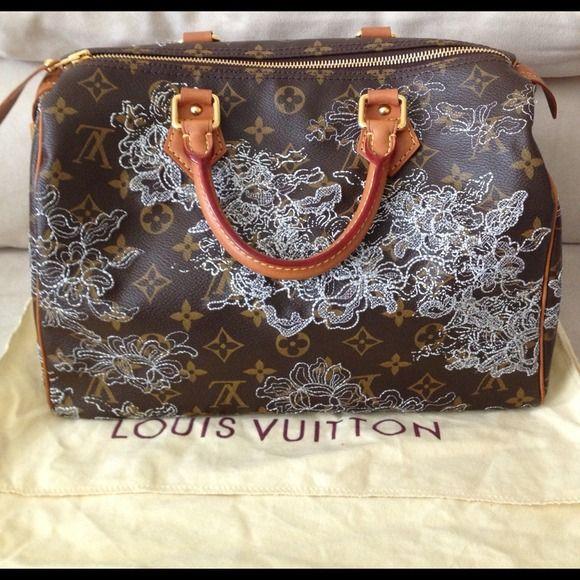 """Spotted while shopping on Poshmark: """"Authentic Louis Vuitton Denetelle Silver Speedy 30""""! #poshmark #fashion #shopping #style #Louis Vuitton #Handbags"""