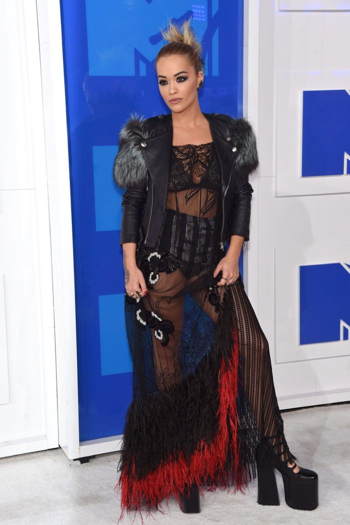 Rita Ora shows off some punk style in a Marc Jacobs look