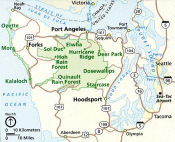 Olympic National Park hikes, camping and lodging - Circle drive