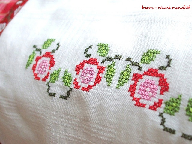 Cross Stitching Rose Garden