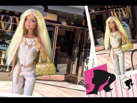 Overall für Barbie selber nähen. - YouTube