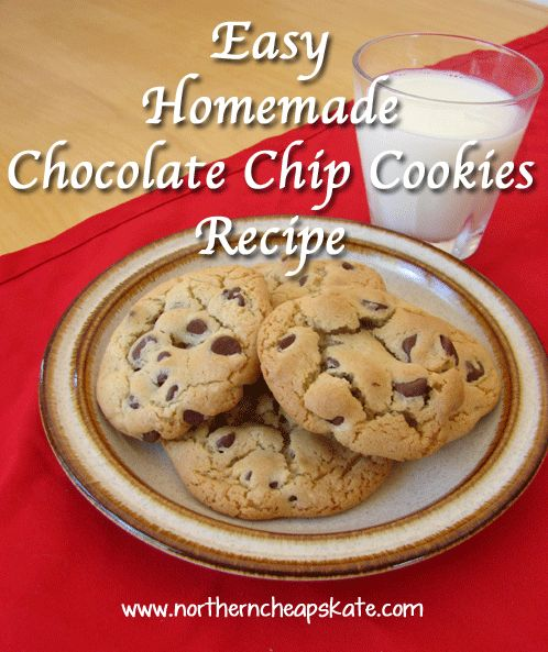 Easy Homemade Chocolate Chip Cookies Recipe - just made these. They are good! Very sticky before baking though.