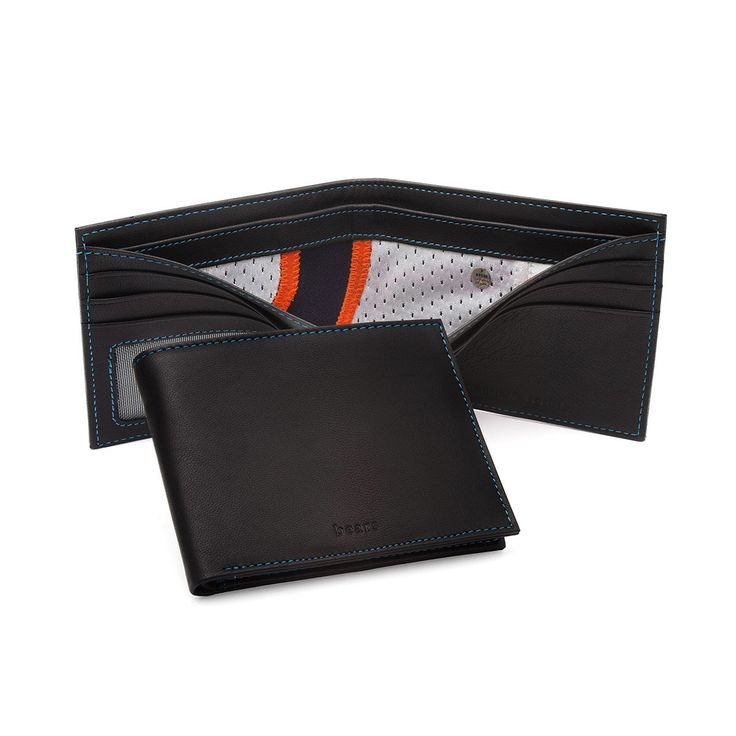 These wallets have interior dividers made from game-used NFL jerseys.