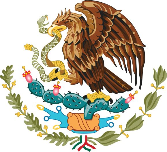 Coat of arms of Mexico. This is in the Mexico's flag too, named the most beautiful flag on the world.
