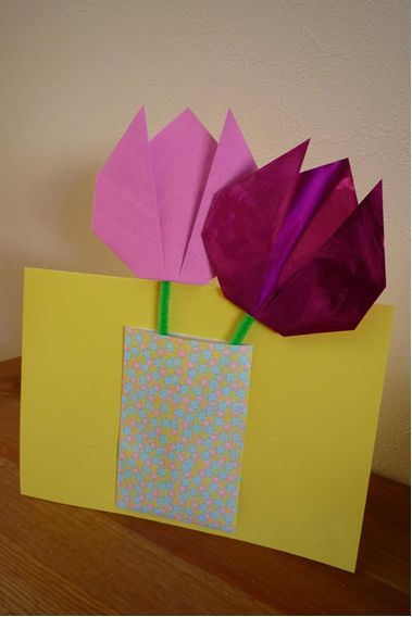 Открытка оригами на день рождение маме