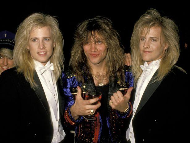 Matthew Nelson, Jon Bon Jovi, and Gunnar Nelson. The look on Jon's face is quite priceless.