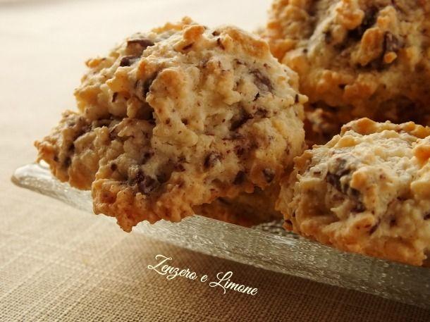 biscotti cocco e cioccolato - dettaglio