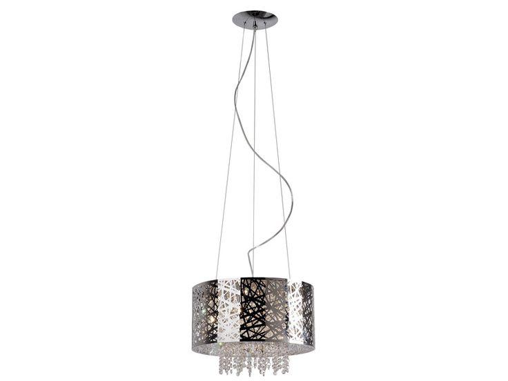 Zuma Line BELLA - ekskluzywna, ażurowa lampa wykonana ze stali nierdzewnej, ozdobiona kryształkami, stanowi unikatowe i nowoczesne rozwiązanie oświetlenia salonu, jadalni, kuchni, czy też sypialni oraz przedpokoju, zarówno w eleganckim w stylu glamour jak i w minimalistycznym, skandynawskim klimacie.