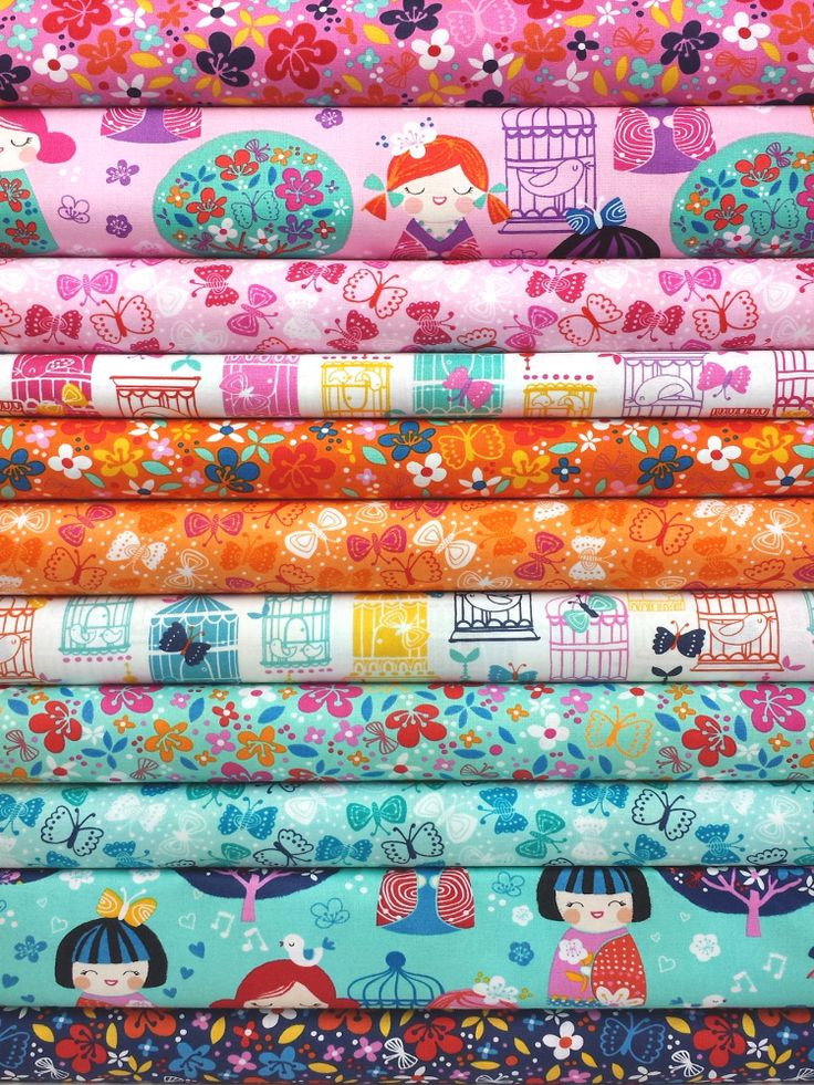 Robert Kaufman, Cherry Blossom Garden, ENTIRE COLLECTION in FAT QUARTERS 11 Total