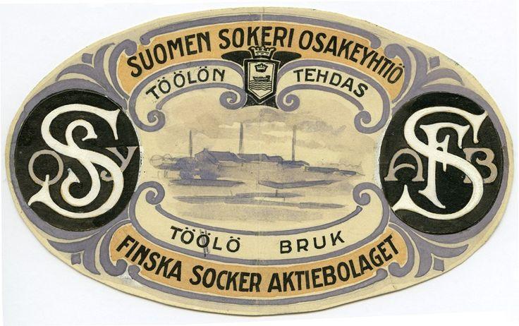 Suomen Sokeri Osakeyhtiö, Töölön tehdas #etiketit #label