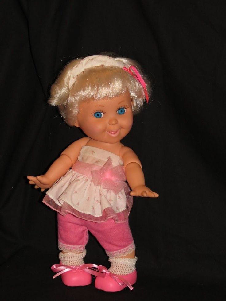 GALOOB BABY FACE DOLL SO CARING KAREN SHE WILL NEED SOME RESTRINGING #DollswithClothingAccessories