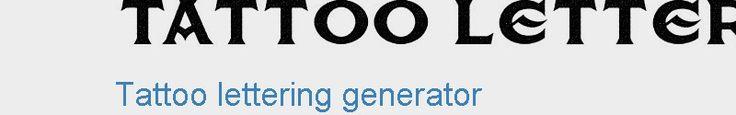 Tattoo lettering generator | Tattoo fonts