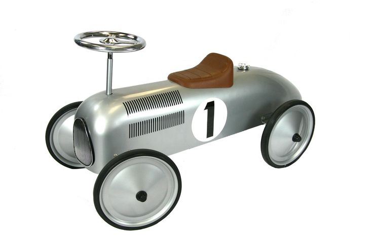 Great Gizmos Classic Racer Ride-On Silver